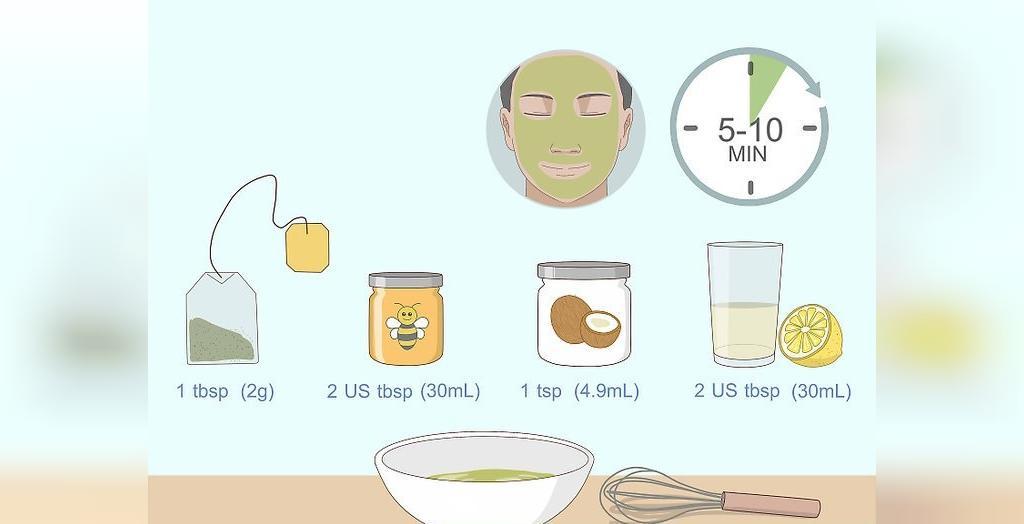 ماسک چای سبز و لیمو برای شفافیت پوست