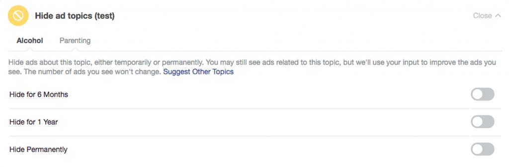حذف تبلیغات مزاحم در فیس بوک