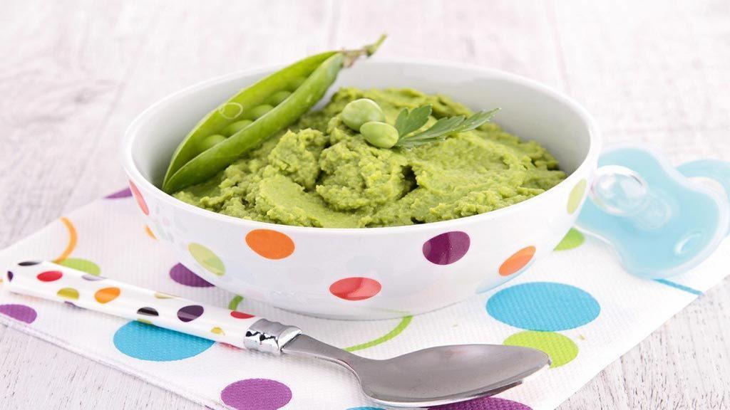 طرز تهیه پوره نخود فرنگی (نخود سبز) برای کودک خوشمزه و سریع
