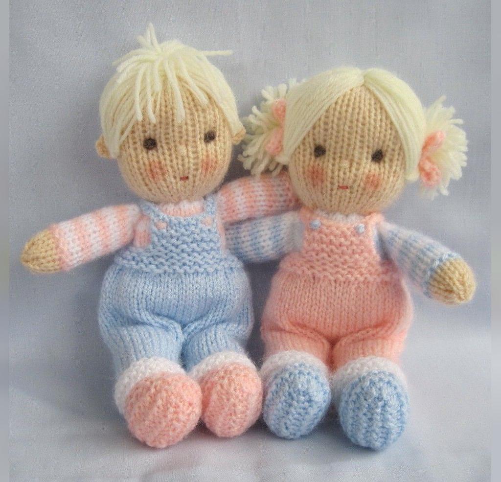 مدل عروسک بافتنی ساده دختر و پسر
