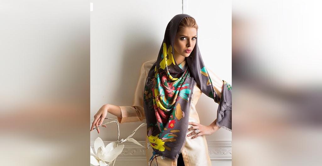 مدل روسری طرح دار جدید