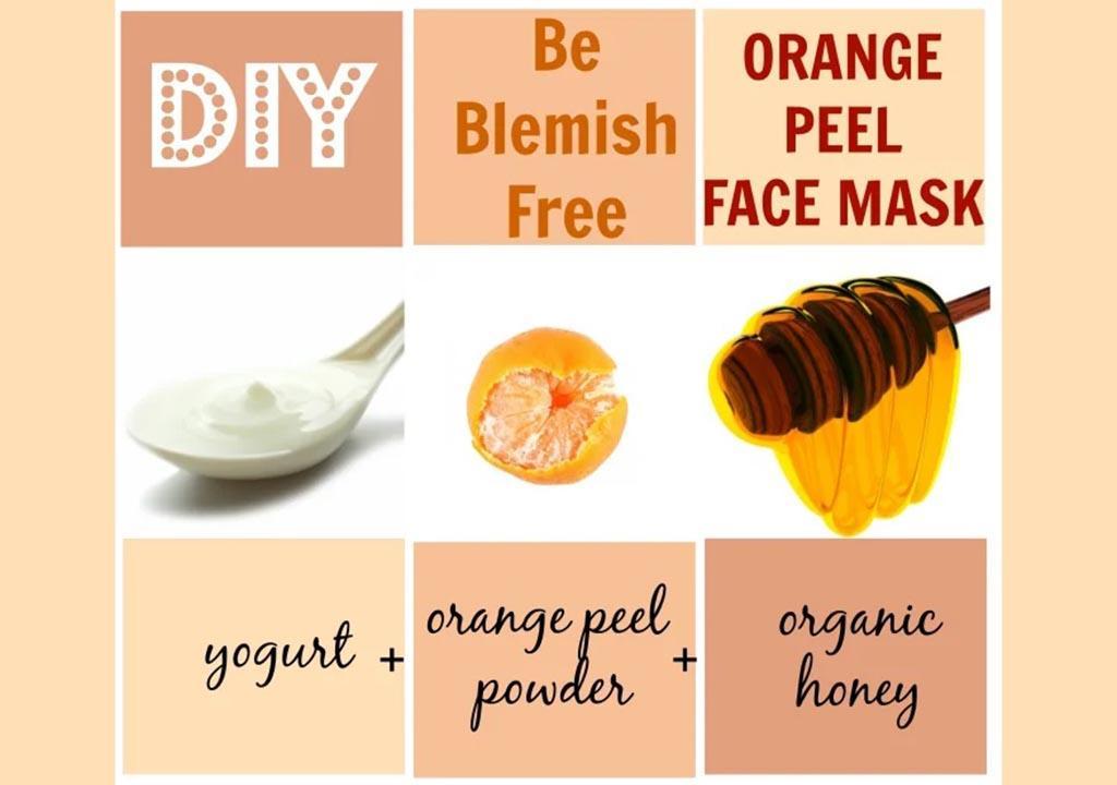 ماسک پوست پرتقال برای لک
