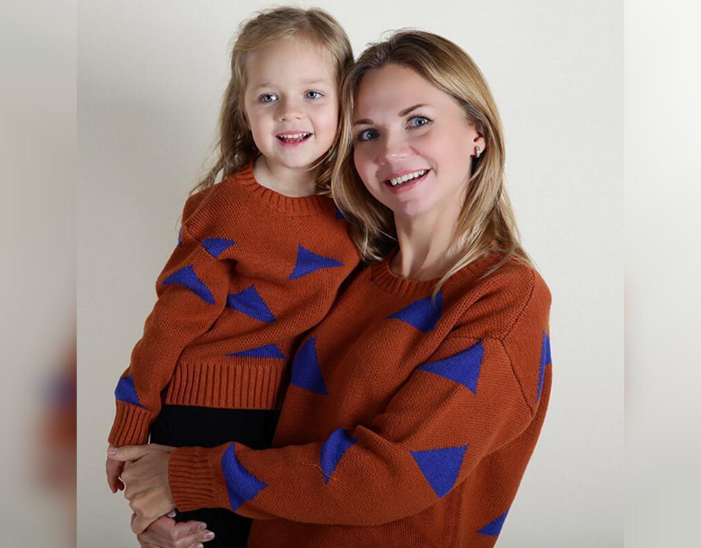 ست لباس مادر و دختر پاییزه مناسب خانه