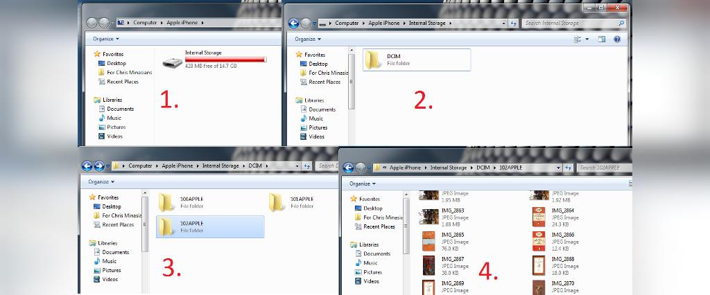 انتقال تصاویر از گوشی آیفون به کامپیوتر با استفاده از Windows Explorer