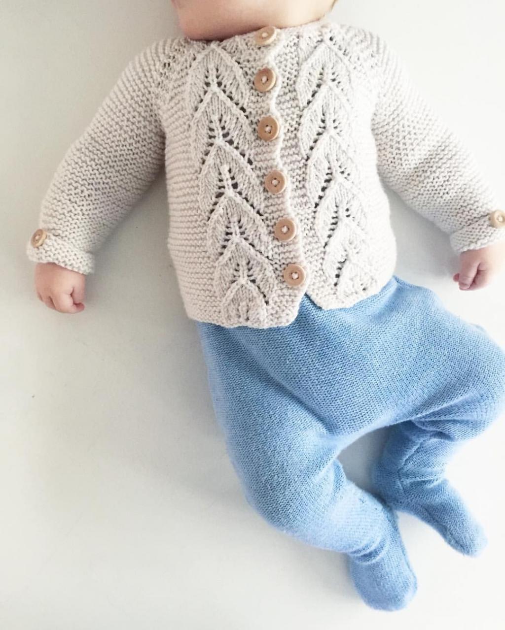 لباس بافتنی نوزاد پسرانه مدل ژاکت