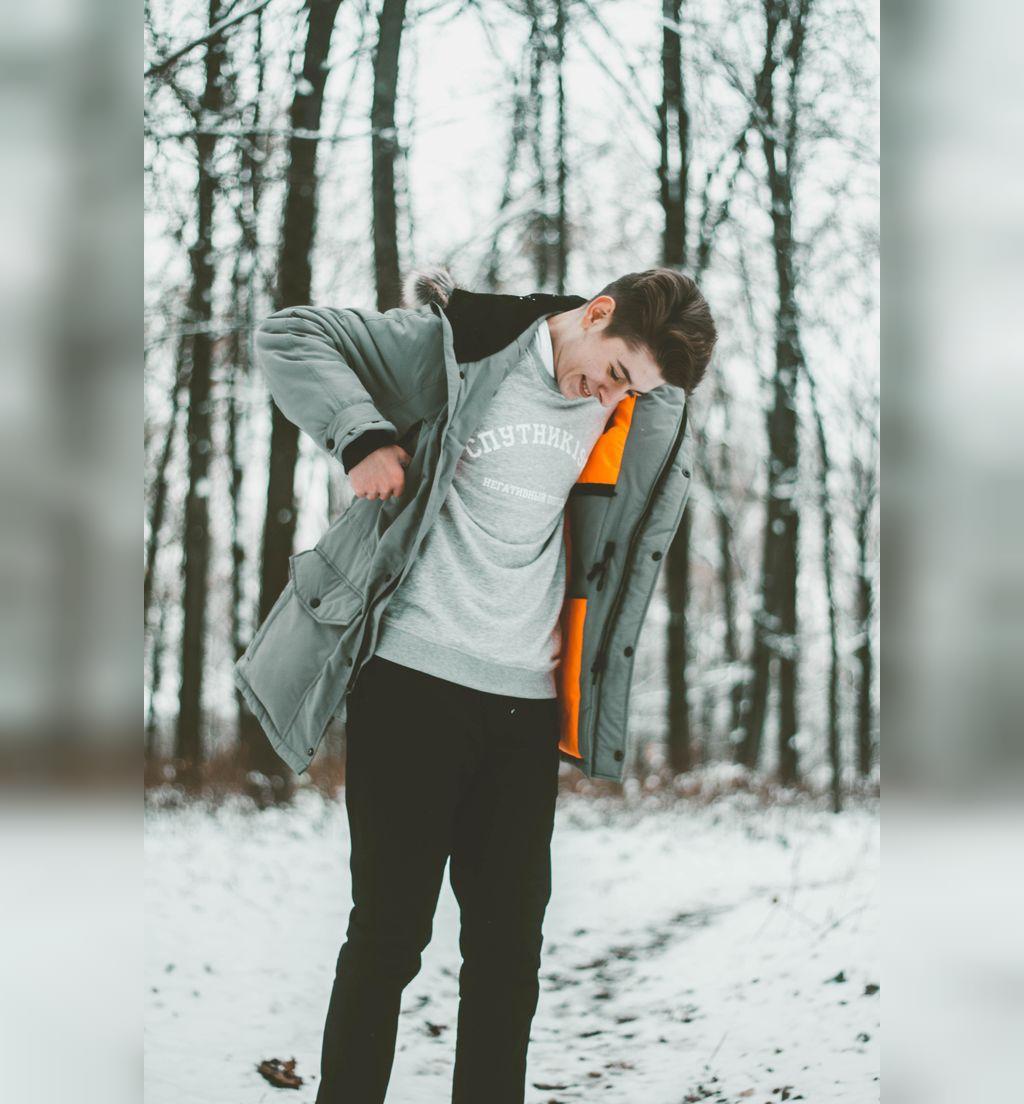 ژست عکس پسرانه زمستانی