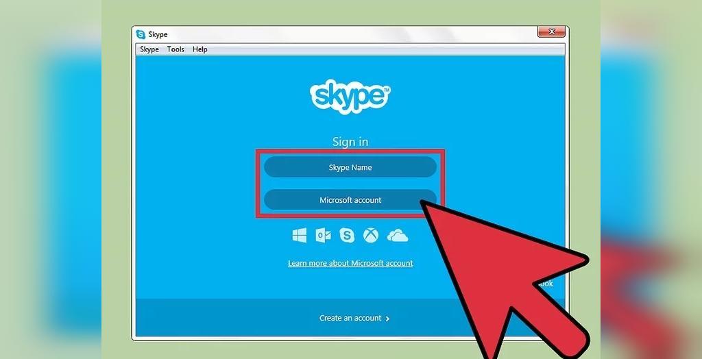 نرم افزار اسکایپ را راه اندازی کنید و برای داشتن حساب کاربری خود در اسکایپ ثبت نام کنید