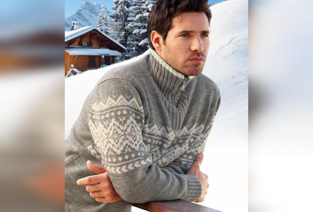 ژست عکس زمستانی پرتره مردانه