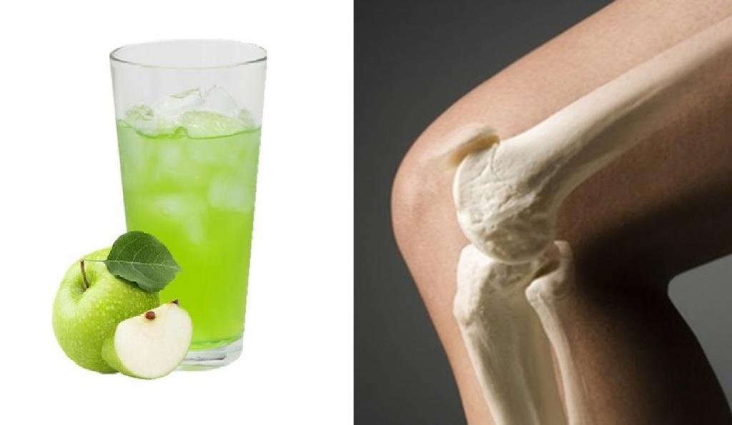جلوگیری از پوکی استخوان با آب سیب سبز