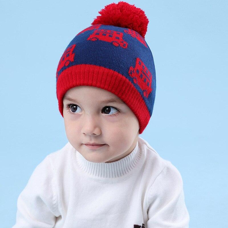 کلاه بافتنی طرح دار پسرانه