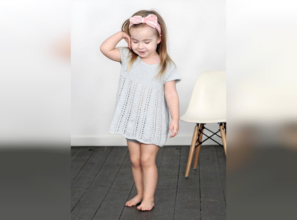 مدل سارافون بافتنی بچه گانه توری