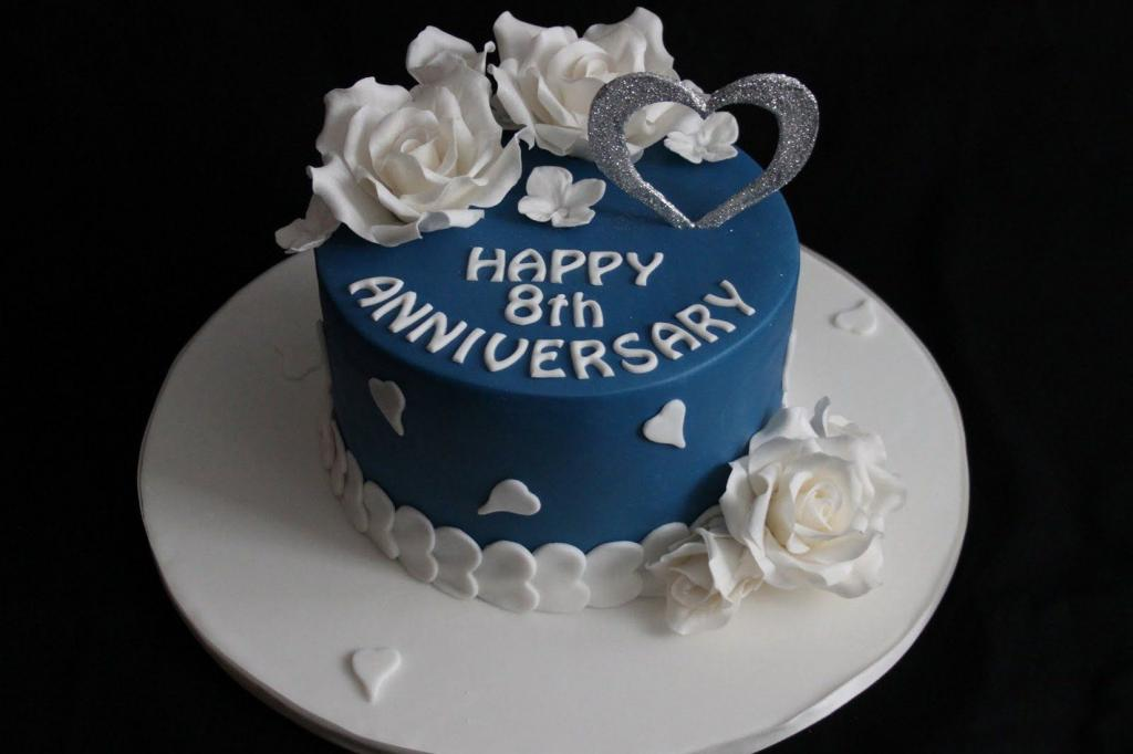کیک سالگرد هشتم عقد