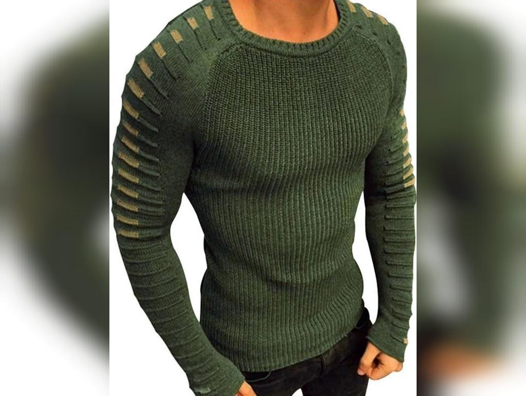 مدل لباس بافتنی مردانه 2020 با آستین جدید