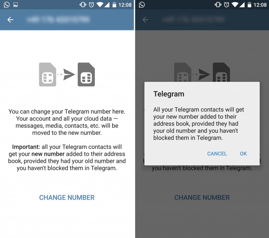 تغییر اکانت تلگرام