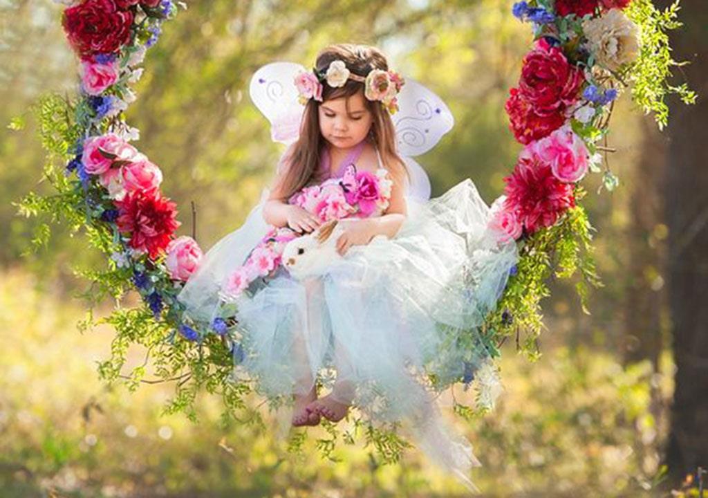 عکس دختر بچه بهاری برای پروفایل