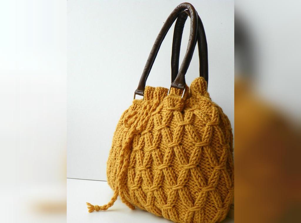 کیف بافتنی زنانه با الگو