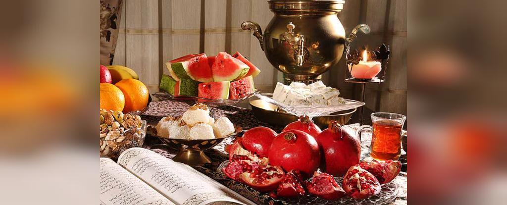 عکس سفره شب یلدا سنتی و زیبا