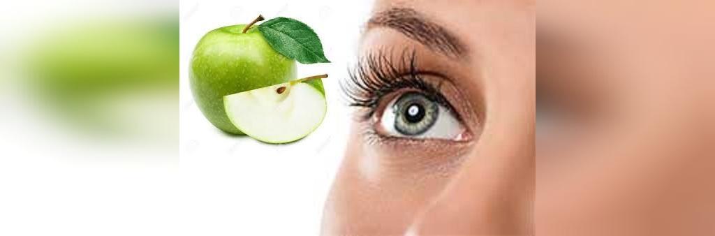 تقویت بینایی با سیب سبز
