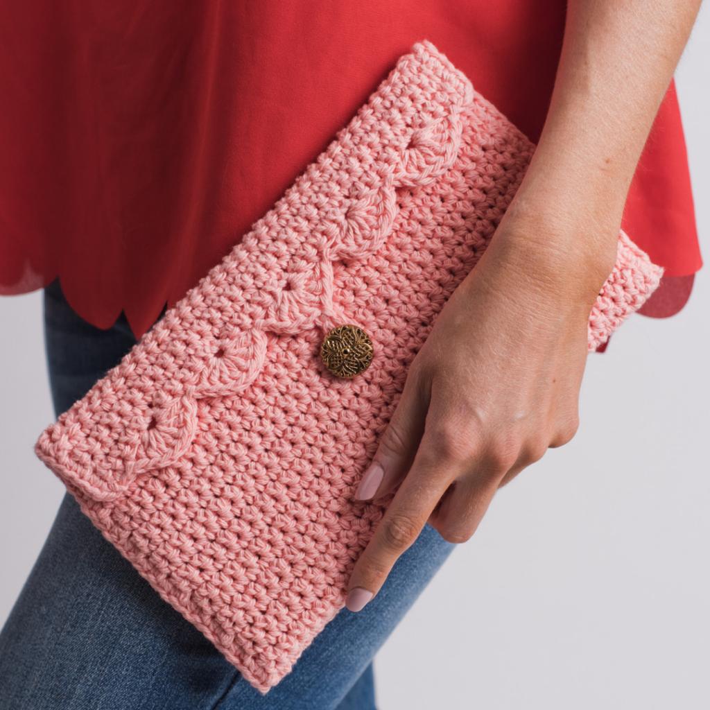 کیف بافتنی زنانه مدل کتابی