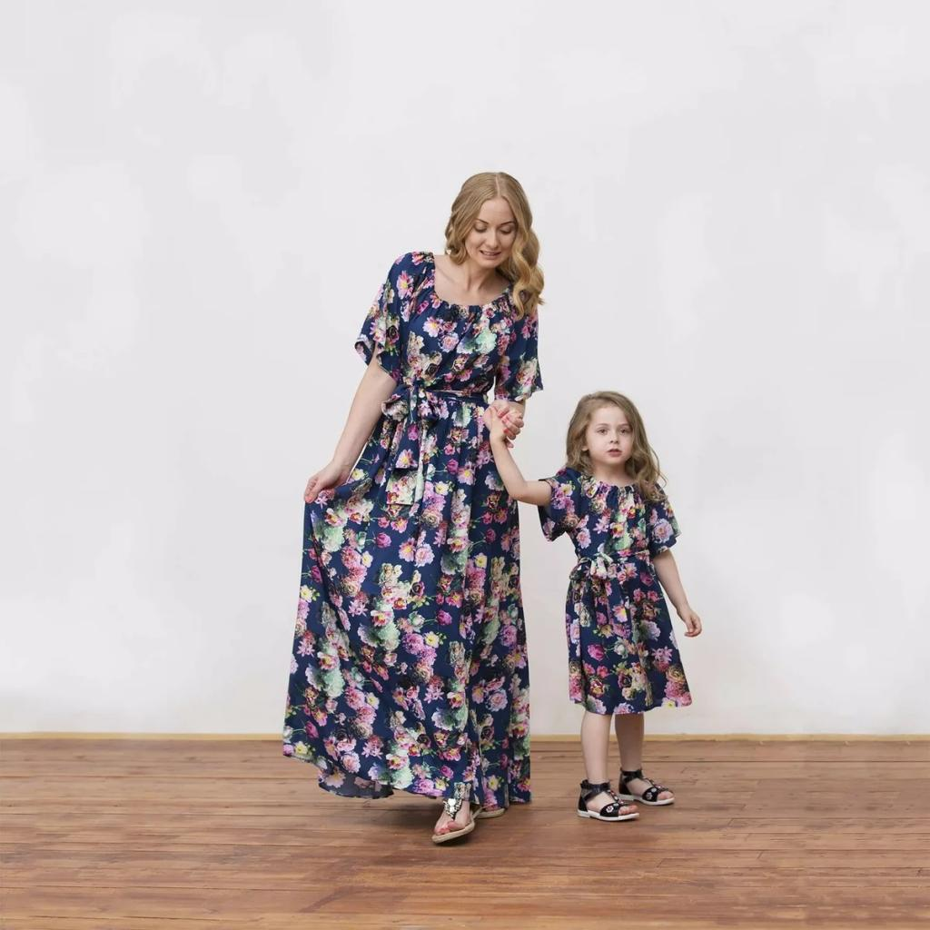 ست لباس مادر و دختر گلدار