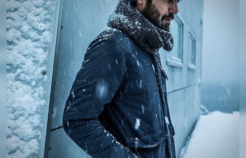 ژست عکس زمستانی مردانه هنری
