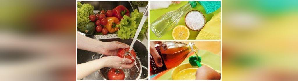 شستشوی میوه و سبزی با سرکه
