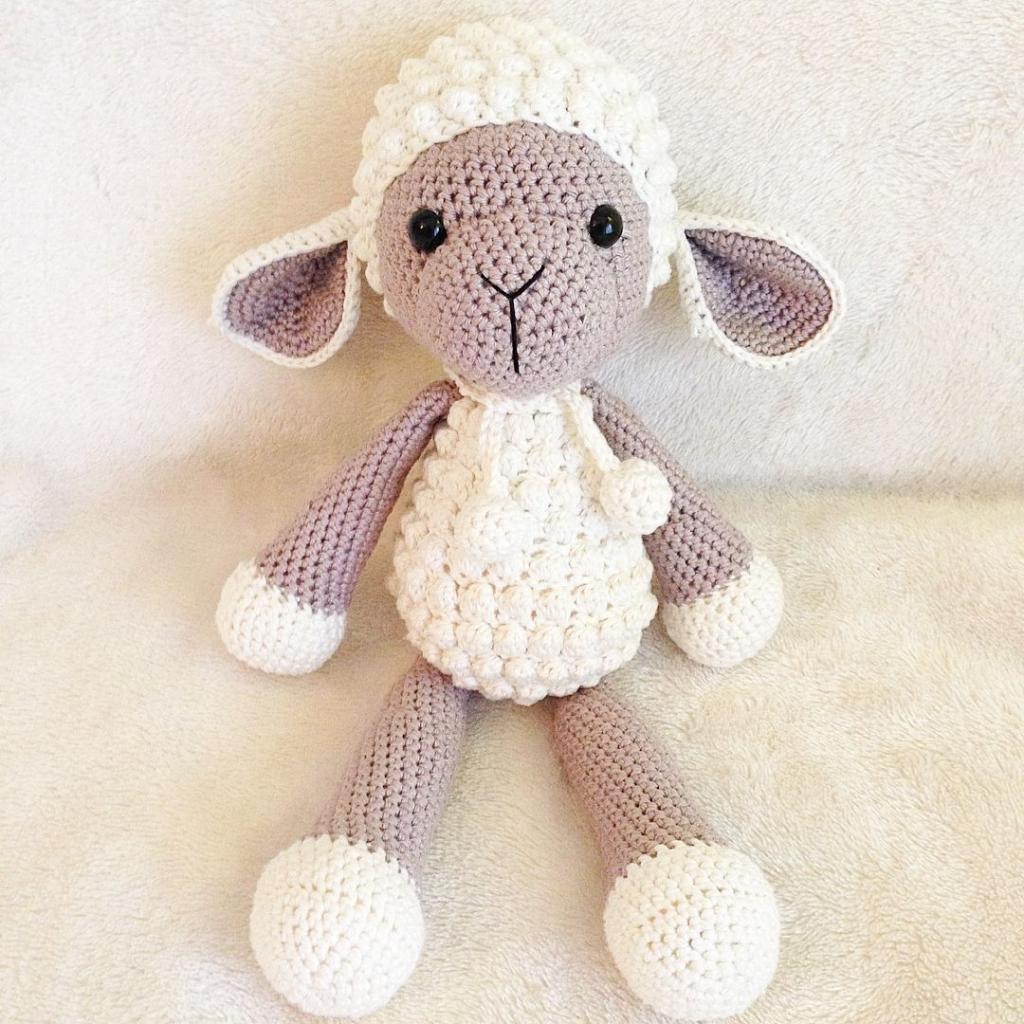 مدل عروسک بافتنی گوسفند زیبا