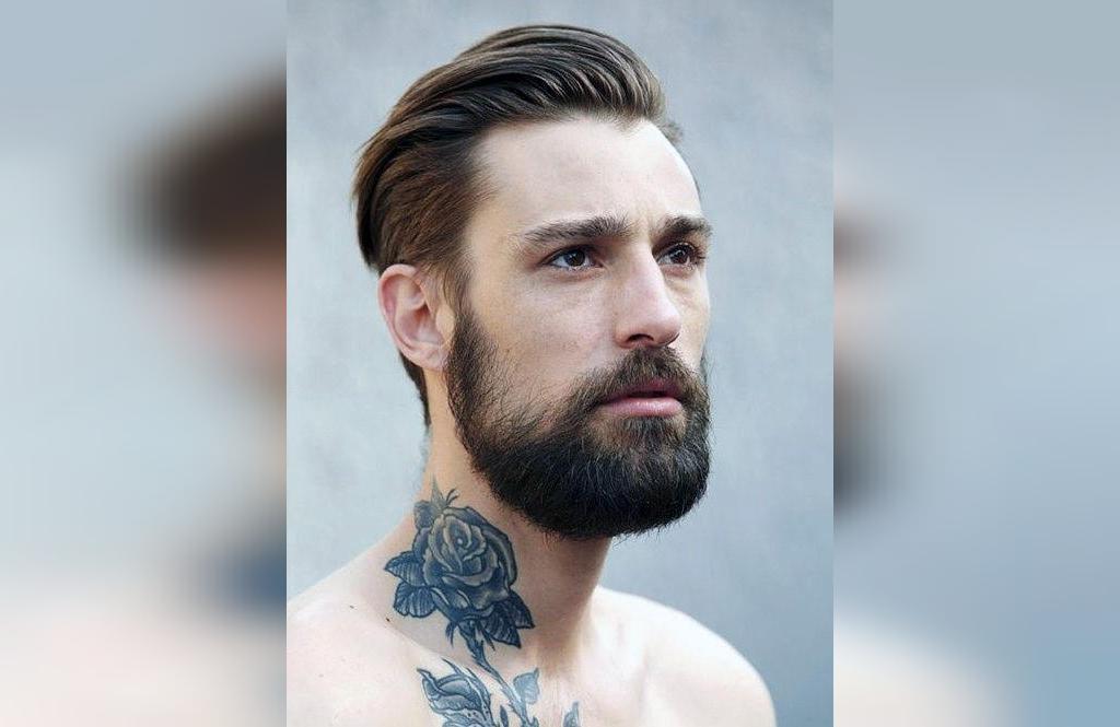 طرح خالکوبی گردن مردانه  جدید و مینیمالی