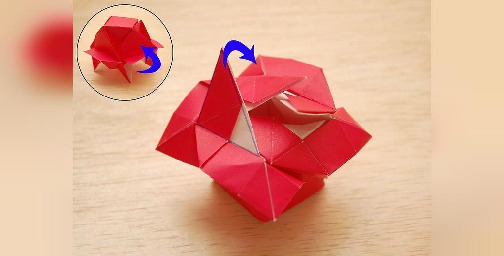 فنون ساخت گل کاغذی به شکل گل رز