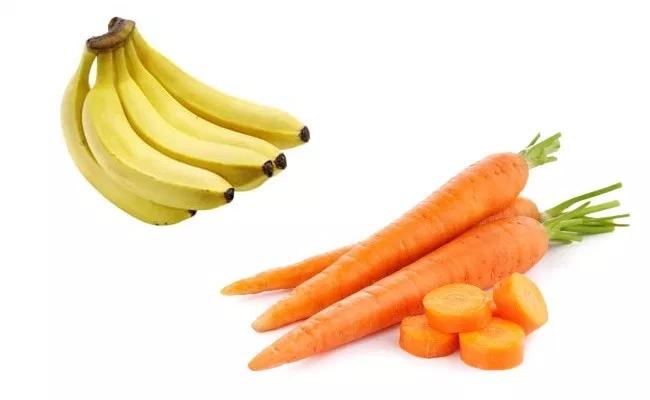 ماسک مو با هویج و موز