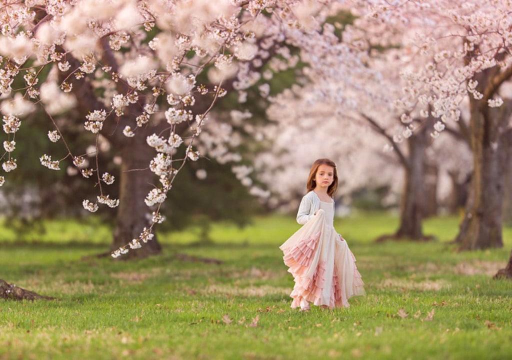عکس بهاری دختر بچه