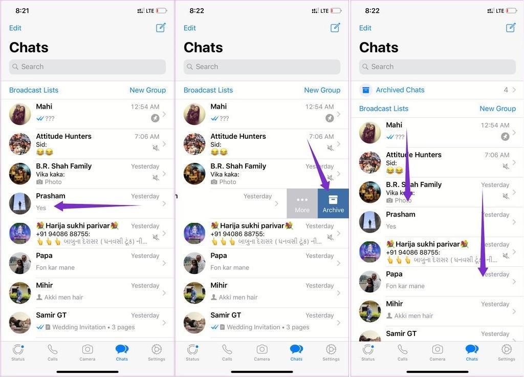 آموزش ترفند حذف یک مکالمه در واتساپ در سیستم آیفون