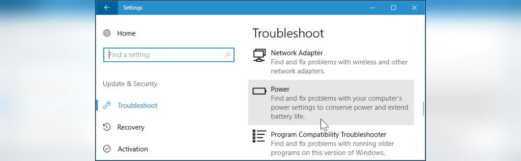 برای افزایش طول عمر باتری لپ تاپ عیب یاب Windows Power را اجرا کنید