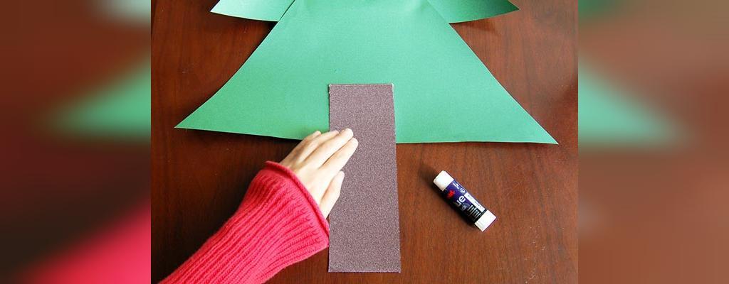 ساخت کاردستی درخت کریسمس با کاغذ رنگی