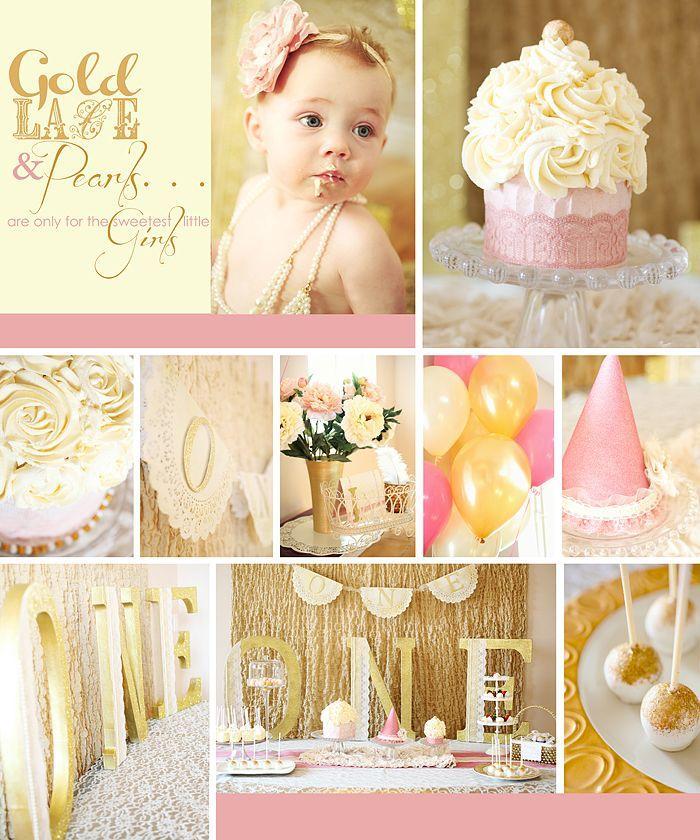 مدل تزیین تولد تاج طلایی نوزاد دخترانه