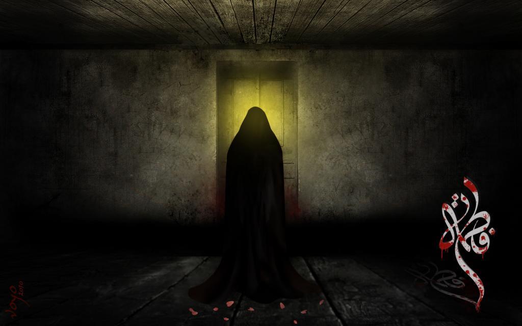 عکس نقاشی شهادت حضرت فاطمه زهرا
