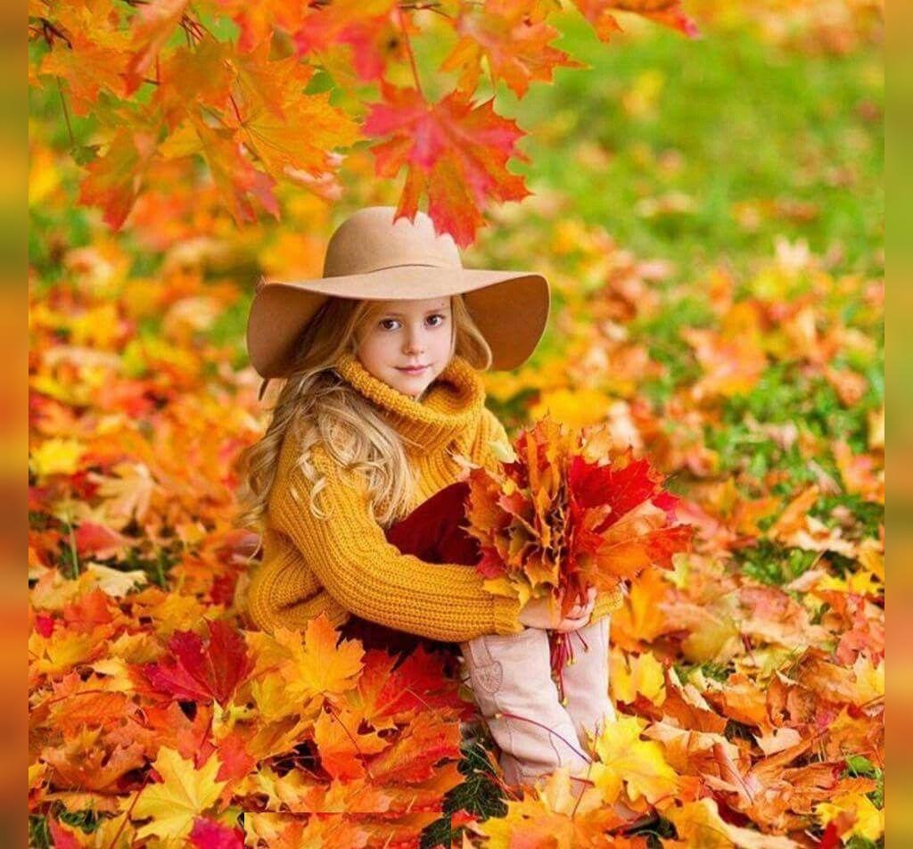مدل ژست کودکانه پاییزی شیک