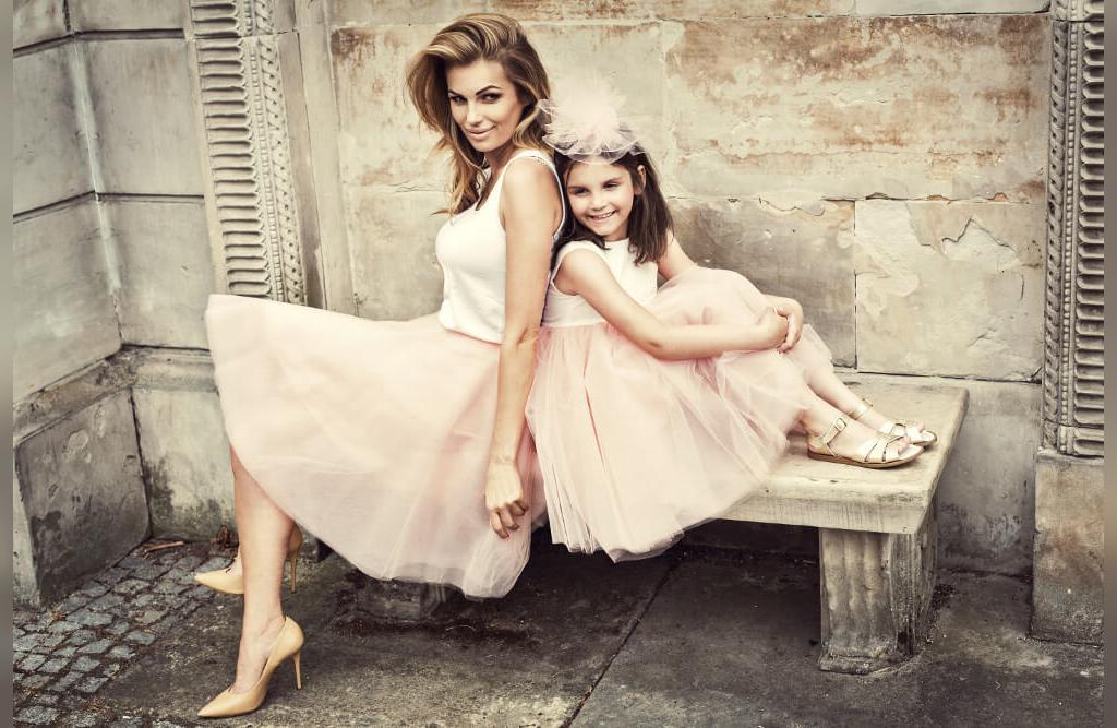 ست لباس مجلسی مادر و دختر ساده و شیک