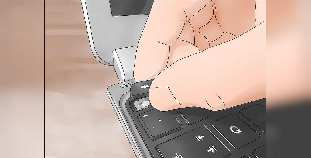 جدا کردن دکمه ها برای پاکسازی لپتاپ