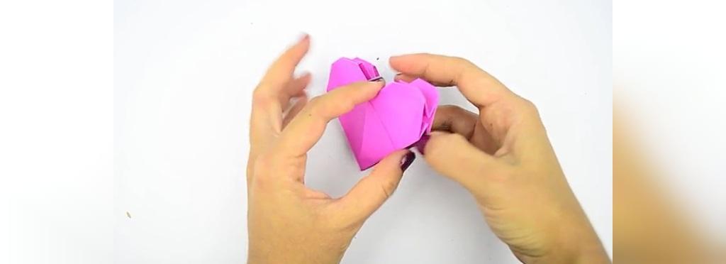 آموزش گام به گام ساخت قلب کاغذی دو بعدی