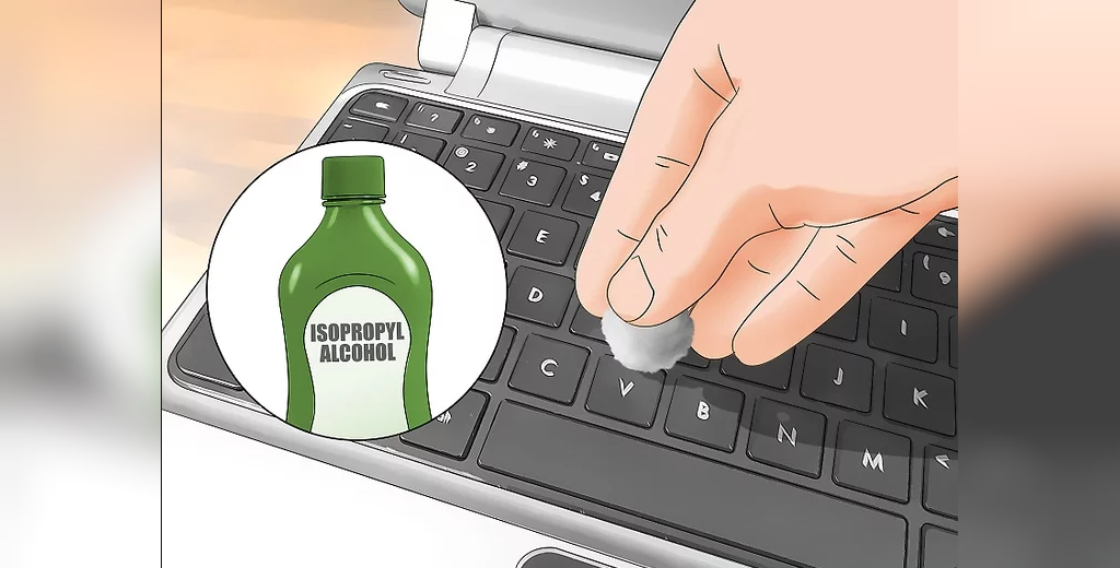 تمیز کردن لپتاپ با الکل