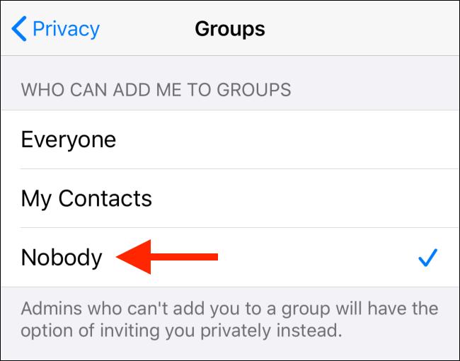 جلوگیری از اد شدن ناخواسته به گروه های واتساپ