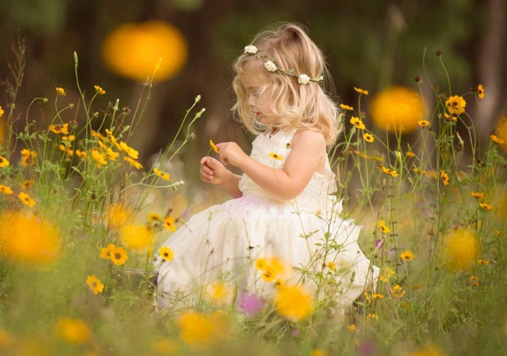 عکس بهاری دختر بچه برای پروفایل