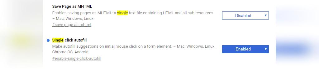 پر کردن سریع فرم های اینترنتی با فلگ های کروم
