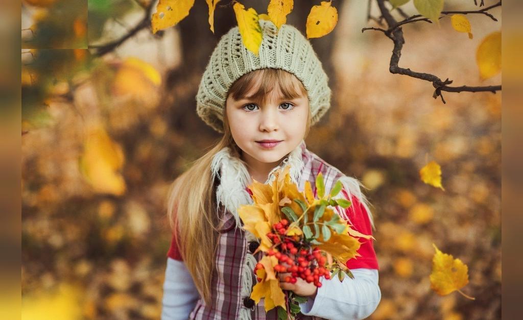 مدل ژست عکس دختر بچگانه لاکچری در طبیعت پاییزی