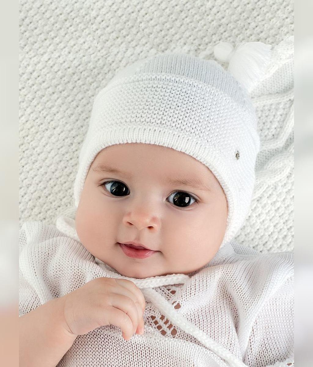 مدل کلاه بافتنی نوزادی شیک