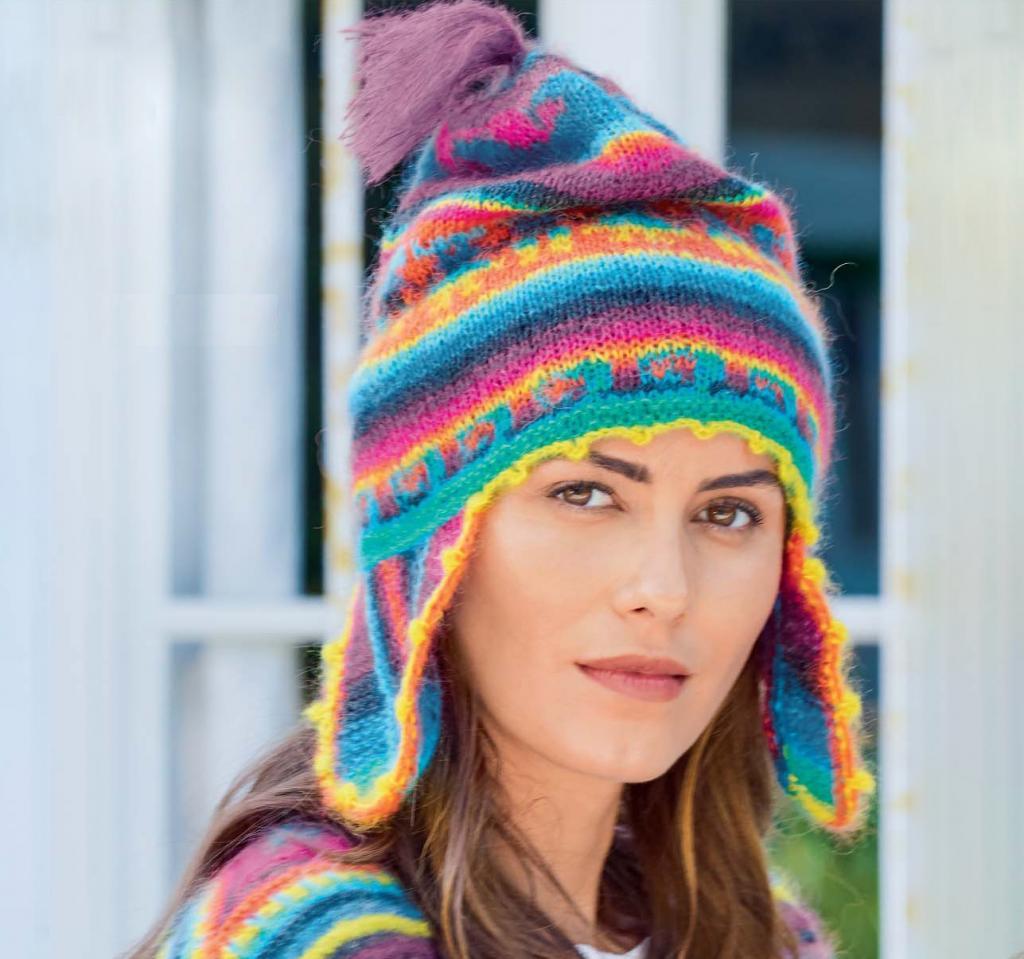 مدل کلاه بافتنی دخترانه فانتزی با قلاب