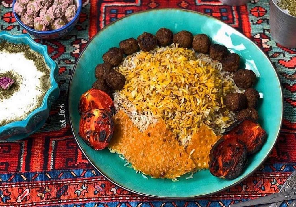 طرز تهیه سماق پلو مجلسی با گوشت