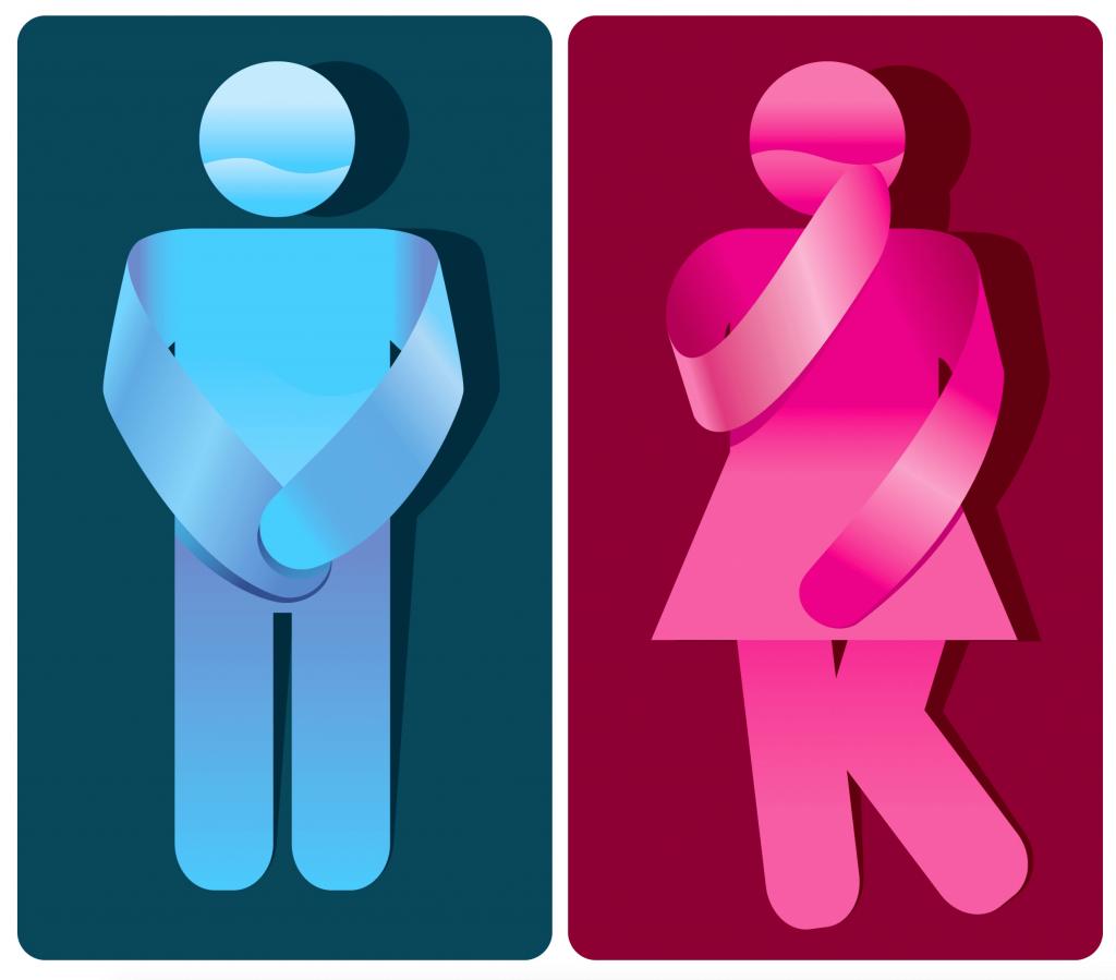 بی اختیاری ادرار در زنان و مردان