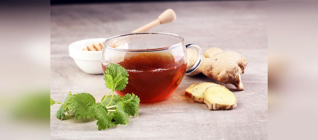 چای زنجبیل، دارچین، نعناع و لیمو